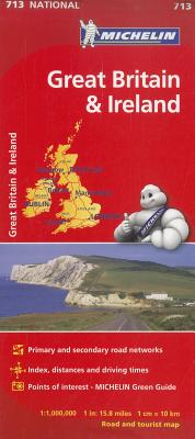 Michelin Map 713 Great Britain & Ireland By Michelin Travel & Lifestyle (COR)